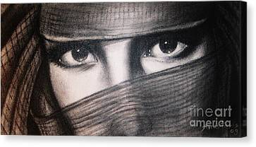 Mistic Eyes Canvas Print by Anastasis  Anastasi