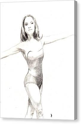 Misty Ballerina Dancer II Canvas Print