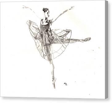 Misty Ballerina Dancer IIi Canvas Print