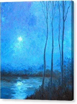 Misty Blue Canvas Print by Beth Maddox