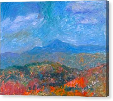 Misty Blue Ridge Autumn Stage One Canvas Print by Kendall Kessler