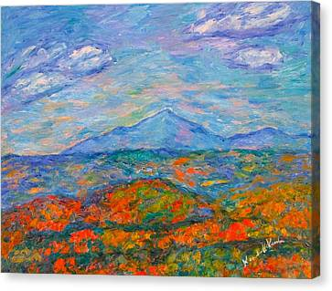 Misty Blue Ridge Autumn Canvas Print by Kendall Kessler