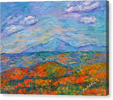 Misty Blue Ridge Autumn Canvas Print