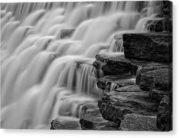 Misty Cascade Canvas Print by James Barber