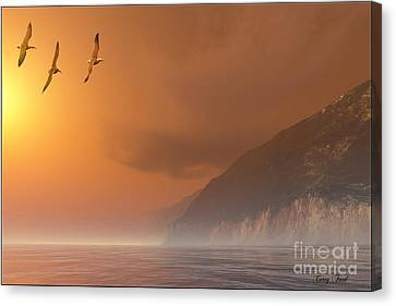 Misty Coast Canvas Print by Corey Ford