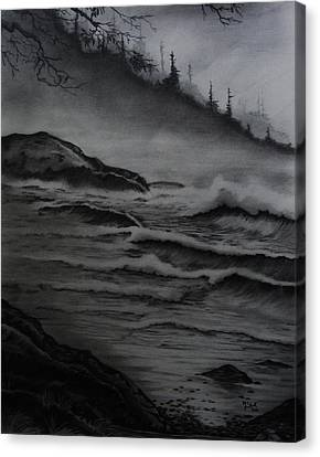 Misty Coast Canvas Print