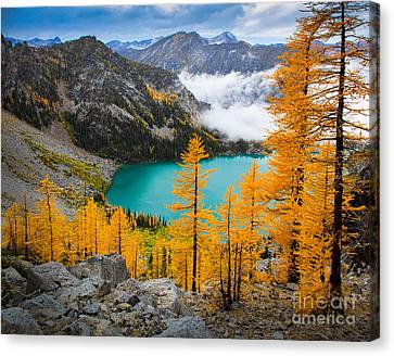 Misty Colchuck Lake Canvas Print by Inge Johnsson