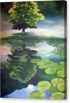 Misty Dawn Canvas Print by Sharon Marcella Marston