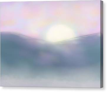 Misty Dawning Canvas Print