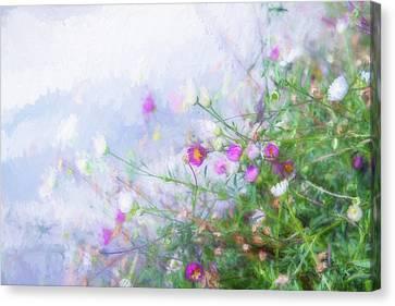 Misty Floral Spray Canvas Print