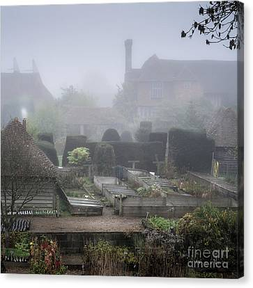 Bamboo House Canvas Print -  Misty Garden, Great Dixter by Perry Rodriguez