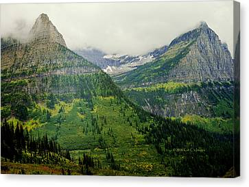 Canvas Print featuring the photograph Misty Glacier National Park View by Kae Cheatham