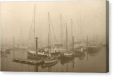 Misty Harbour Canvas Print
