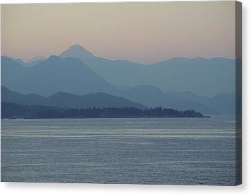 Misty Hills On The Strait Canvas Print