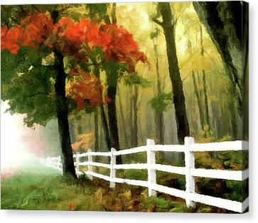 Canvas Print featuring the painting Misty In The Dell P D P by David Dehner