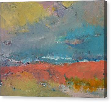 Misty Canvas Print by Michael Creese