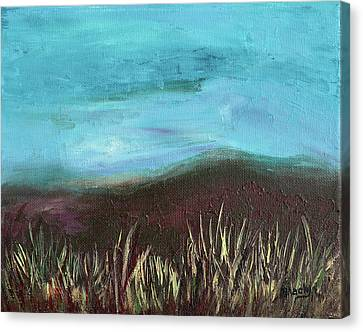 Misty Moors Canvas Print by Donna Blackhall