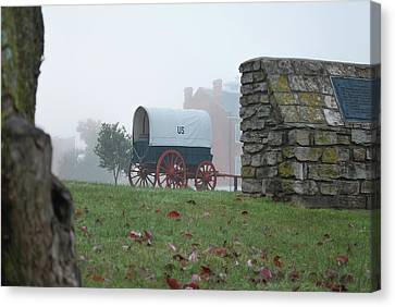 Misty Morning At Fort Smith National Historic Site - Arkansas Canvas Print