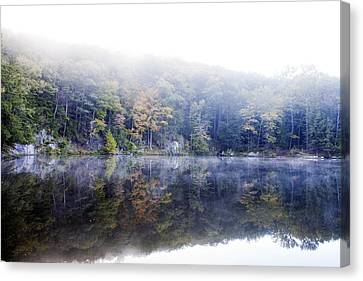 Misty Morning At John Burroughs #2 Canvas Print by Jeff Severson