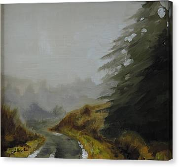 Misty Morning, Benevenagh Canvas Print by Barry Williamson