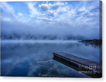 Misty Morning Dock Canvas Print by Thomas R Fletcher