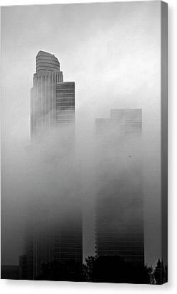 Misty Morning Flight Canvas Print