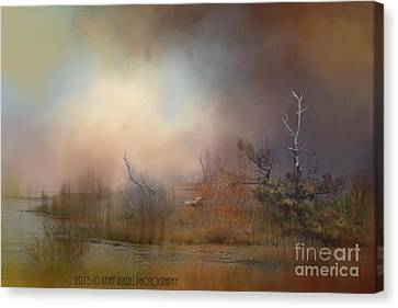 Misty Morning Canvas Print by Kathy Russell