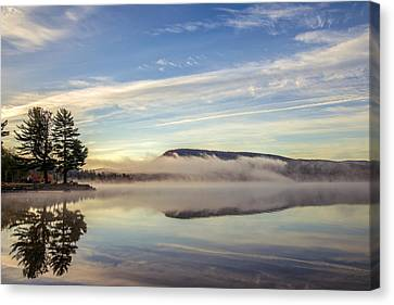 Misty Morning Canvas Print by Mark Papke
