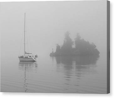 Misty Morning Canvas Print by Mark Alan Perry