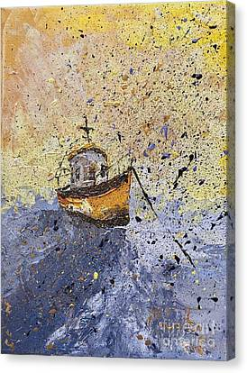 I Am Sailing Canvas Print - Misty Morning by Mary Cullen
