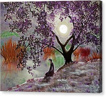 Misty Morning Meditation Canvas Print