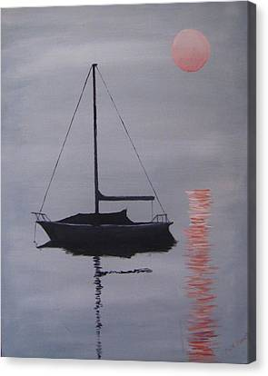 Misty Morning Mooring Canvas Print