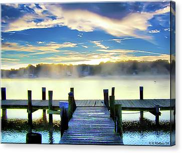 Canvas Print featuring the photograph Misty Morning On Rock Creek by Brian Wallace