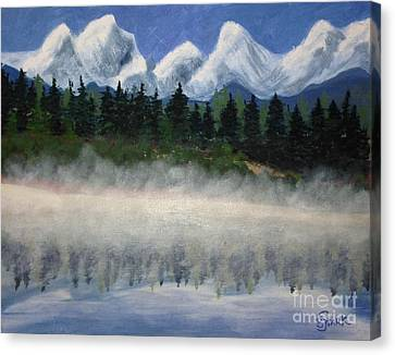 Misty Morning On The Mountain Canvas Print