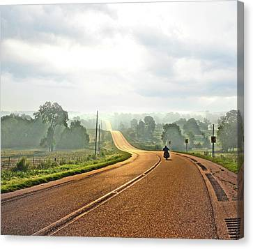 Misty Morning Ride Arkansas Canvas Print