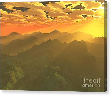 Misty Mornings In Neverland Canvas Print by Gaspar Avila