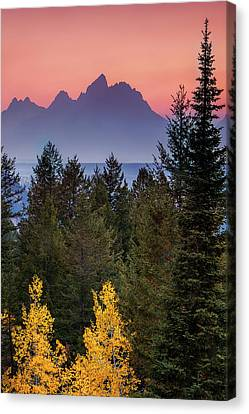 Misty Mountain Sunset Canvas Print by Andrew Soundarajan