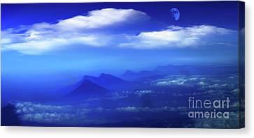 Misty Mountains Of San Salvador Panorama Canvas Print