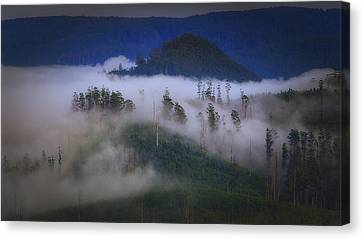Canvas Print featuring the photograph Misty Mountains by Tim Nichols
