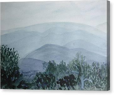 Misty Shenandoah Canvas Print