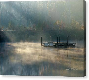 Misty Sunrise Canvas Print by George Randy Bass