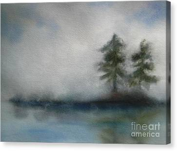 Misty Waters Canvas Print by Vivian  Mosley