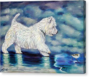 West Highland Canvas Print - Misty - West Highland Terrier by Lyn Cook