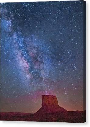 Mitchell Butte Milky Way 1 Canvas Print by Joe Kopp