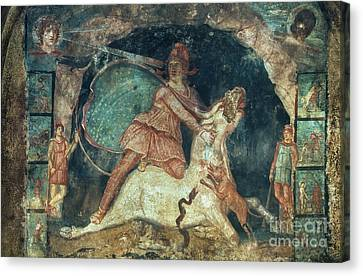 Mithras Killing The Bull Canvas Print by Granger