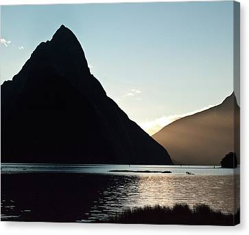 Canvas Print featuring the photograph Mitre Peak Milford Sound New Zealand by Odille Esmonde-Morgan