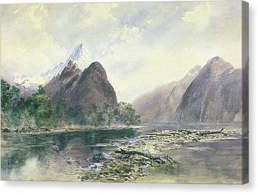 Mitre Peak, Milford Sound Canvas Print by William Hodgkins