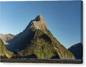 Canvas Print featuring the photograph Mitre Peak Rahotu by Gary Eason