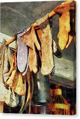 Mittens In General Store Canvas Print by Susan Savad