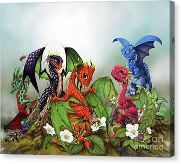 Mixed Berries Dragons Canvas Print